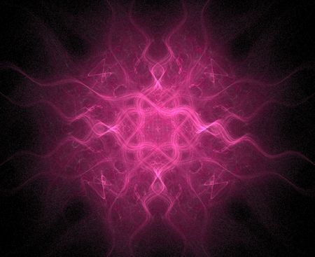 computer generated fractal in high resolution, resembling flower, chakra or mandala Stock Photo - 457915