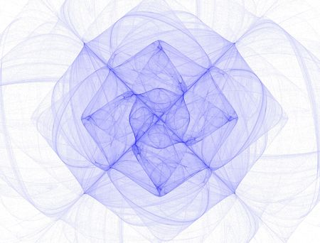 fractals: high resolution flame fractal forming a flower mandala