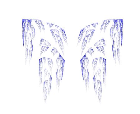 high resolution flame fractal forming the wings of a butterfly or an angel Stock Photo - 476708