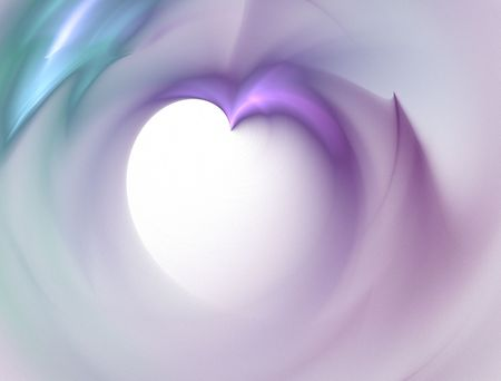 high resolution flame fractal forming a 3d heart shape Stock Photo - 523842