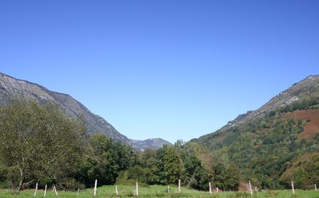 taken in the french Pyrenees, department Pyrenees atlantique, plenty of copy space Stock Photo - 610434