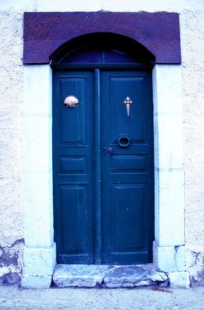 surrealistic: old french door, photoshopped to give it a surrealistic feel Stock Photo