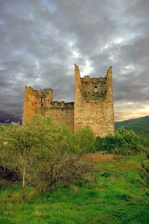 aragon: ruined towers in Aragon, Spain