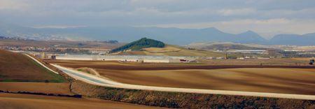 the newly constructed Canal de Navarra near Pamplona, Spain, Europe Stock Photo - 630927