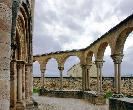templars: The romanic chapel of Santa Maria de Eunate, Spain built by the Templars, on the camino de Santiago