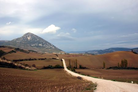 navarra: Camino de Santiago, long distance foot pilgrimage, Spain, Europe
