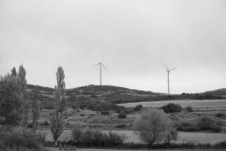 Windmills in Navarra, Spain, Europe Stock Photo - 630907