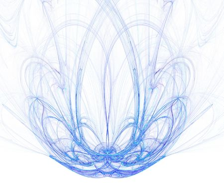 high res flame fractal forming a beautiful fountain, possible concept: purity photo