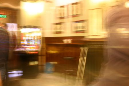 delirium: bar as it would be seen by a completely drunken person Stock Photo
