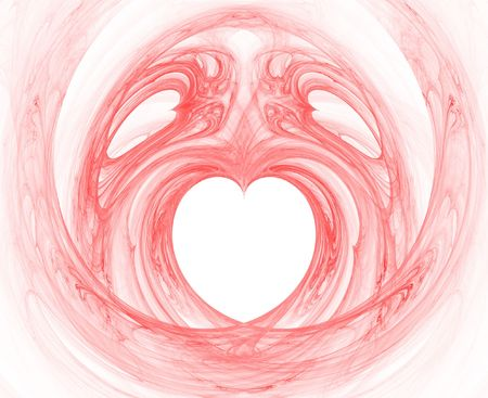 rendered flame fractal with heart shapes Stock Photo - 675298