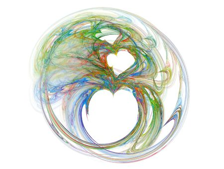 fractal heart in mutiples colors photo