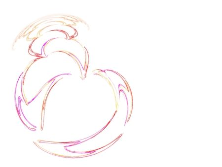 flame fractal forming many hearts with soft strokes Stock Photo - 703091
