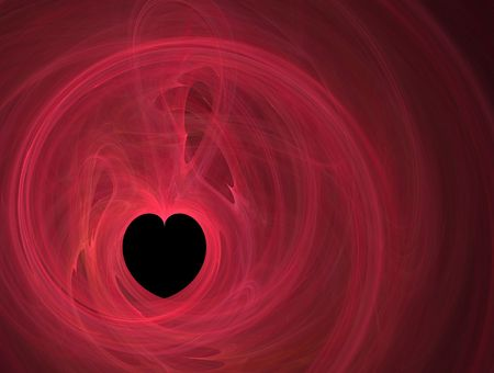 smooth red fractal heart photo