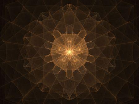 high resolution flame fractal forming a mandala that resembles a golden sphere or mandala photo