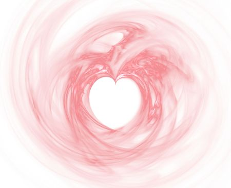 smooth rosered heart fractal Stock Photo - 837112