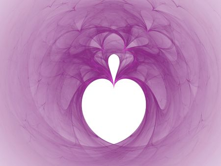 high res flame fractal forming a heart with center drop in hollyhock color Stock Photo - 837114
