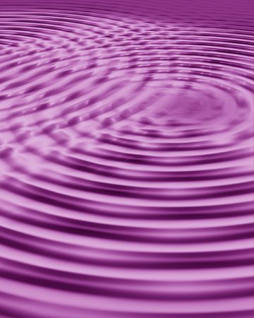 computergraphics: double water ripples in hollyhock color Stock Photo