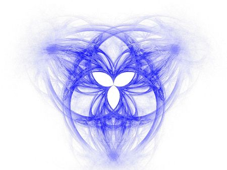 High res flame fractal forming the celtic symbol of the Holy Trinity photo