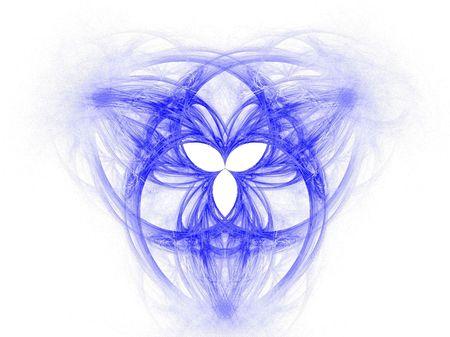 High res vlam fractal die het keltische symbool van de Heilige Drievuldigheid