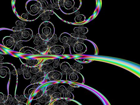 res: high res fractal forming multiple rings and swirls resembling circus performance Stock Photo