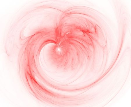 smooth rosered heart fractal photo