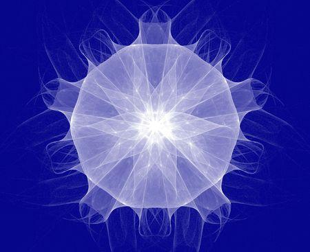 resembling: fractal resembling a star, flake or jellyfish Stock Photo