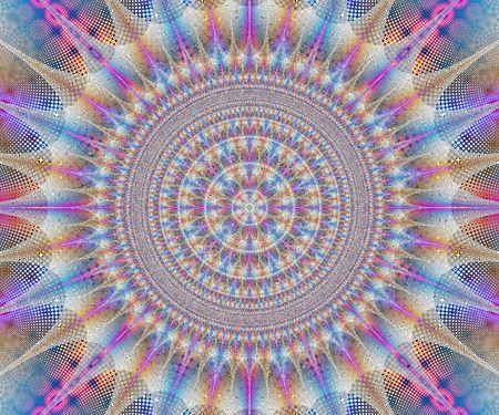 kaleidoscopic: very detailed mandala or kaleidoscopic fractal