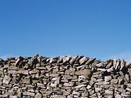 drystone: drystone wall in derbyshire