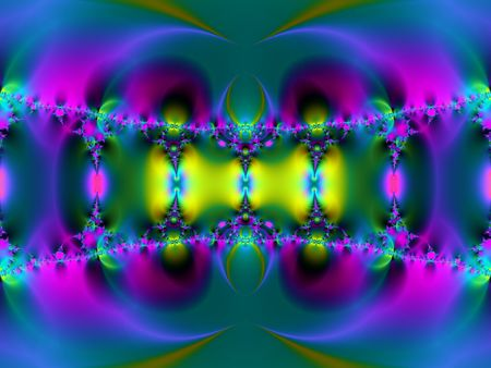 fractal pink: futuristic fractal, possible connotations: hypnosis, psychodelic