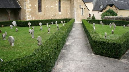 templars: Old cementry in Lacommande on the GR65.3 (Chemin de Gran Randonee to Santiago de Compostela), long distance pilgrims way in Europe