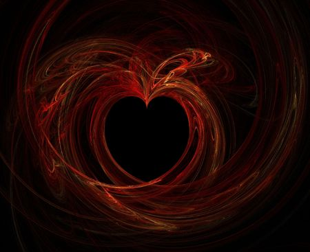 high res flame fractal forming a red heart Stock Photo - 1319033