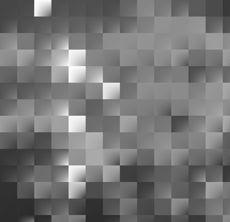computergraphics: silver-grey mosaic background with glass metallic effect