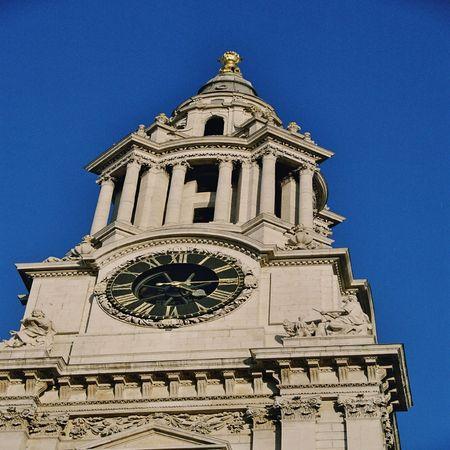 st pauls: St Pauls cathedral clock Stock Photo