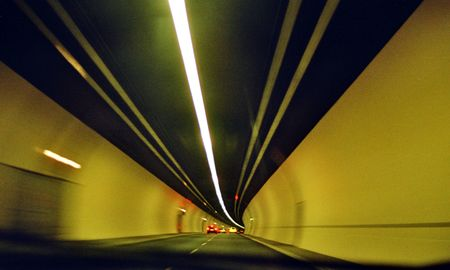 tunnel vision: speedy tunnel vision Stock Photo