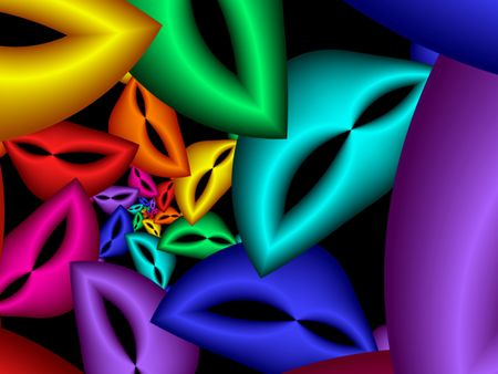 colorful background of fractal lips Stock Photo - 1833923