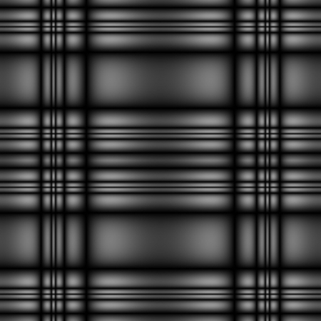 seamless tillable dark silver metallic tartan style background with stripes Stock Photo