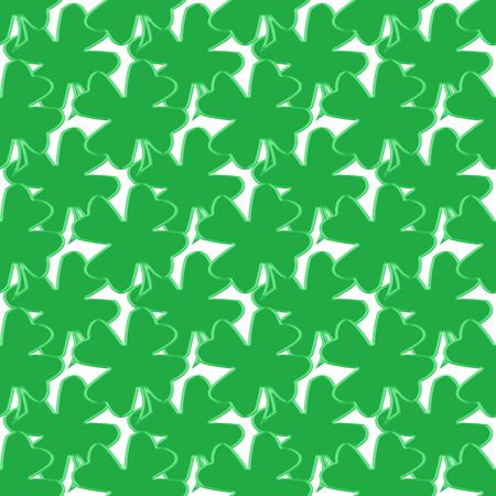 seamless tillable background with clover leaves for St. Patricks day isolated over white Stock Photo - 2513482