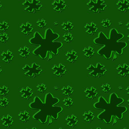 tillable: seamless tillable background with clover leaves for St. Patricks day