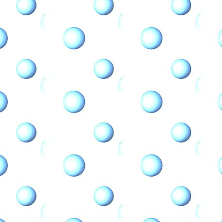 designelement: clean blue water bubbles over a white background Stock Photo