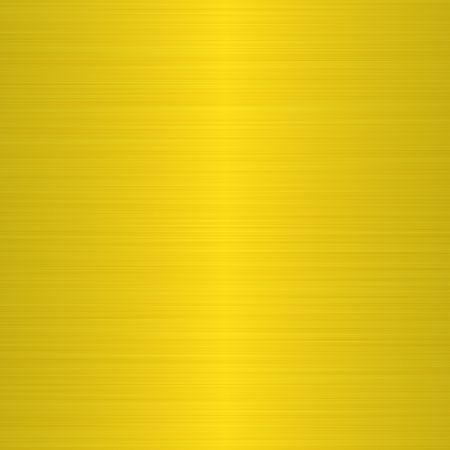 brushed yellow metallic background with central highlight Stock Photo