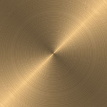circular brushed gold metallic background with diagonal highlight photo