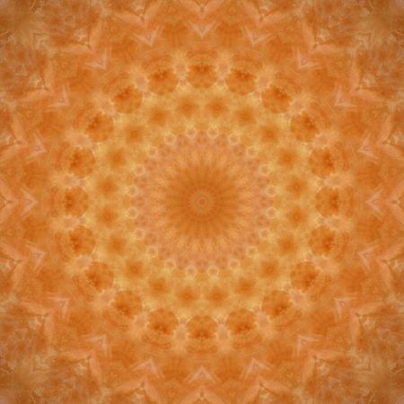 kaleidoscopic: Kaleidoscopic image that resembles a mandala, chakra or abstract flower. Stock Photo