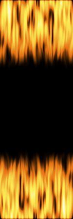 flickering: flickering flames over black background banner
