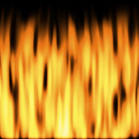flickering: parpadeo llamas m�s de fondo negro  Foto de archivo