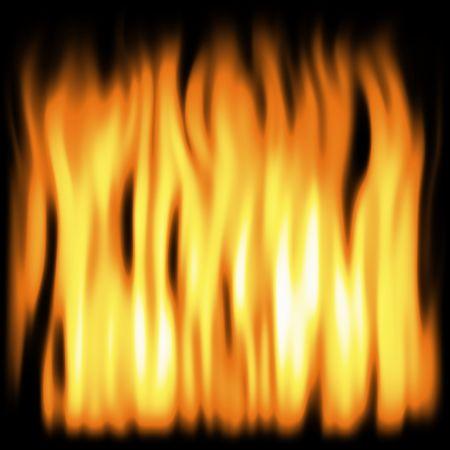 flickering: flickering flames over black background
