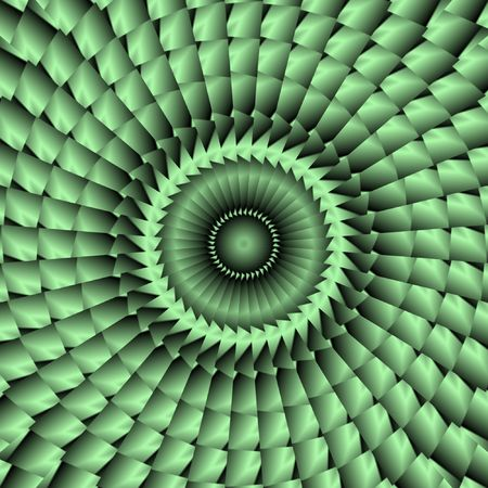 green tile or button resembling an abstract peacock fan or flower Stock Photo - 3089923