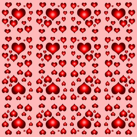 seamless tileable background tile with many hearts Stock Photo - 3089944
