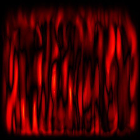 flickering: el parpadeo de color rojo las llamas m�s de fondo negro  Foto de archivo