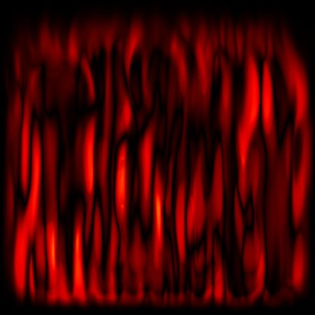 flickering: red flickering flames over black background