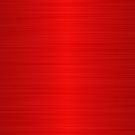 brushed aluminium: brushed red metallic background with central highlight Stock Photo